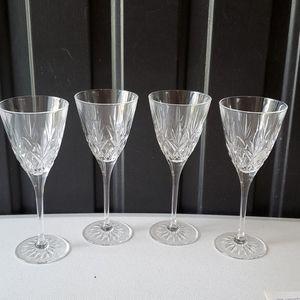 Princess House Heritage Wine Glasses NWOB